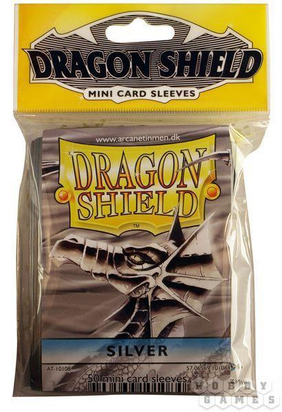 """Протекторы Мини """"Dragon Shield"""" (разноцветные, 50 шт.): серебряные"""