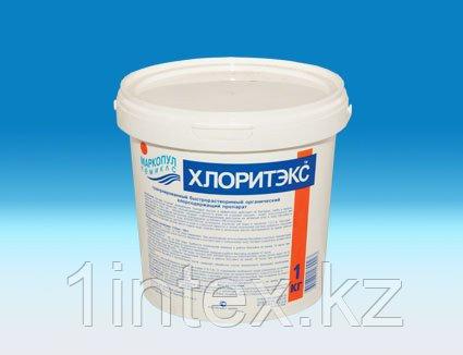 Хлоритэкс 4кг, гранулированный препарат для текущей и ударной дезинфекции воды