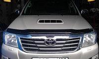 Мухобойка (дефлектор капота) наToyota Hilux/Тойота Хайлюкс 2011-