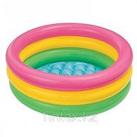 Надувной бассейн Intex 3 кольца с надувным дном 61х22 см