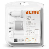 Универсальное USB зарядное устройство ACME CH04 Smartphone and PC Tablet 4in1 charger kit, iPhone, iPad, iPod