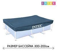 Чехол - тент для каркасного бассейна 28038 INTEX, размер 300 - 200 см, фото 1