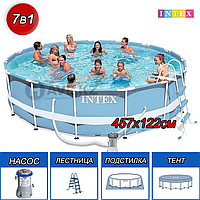 Каркасный бассейн Intex 28736,26736, Ultra Frame Pool,  размер 457x122 см, фото 1