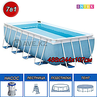 Каркасный бассейн Intex 28318, Ultra Frame Pool, 488x244x107 см