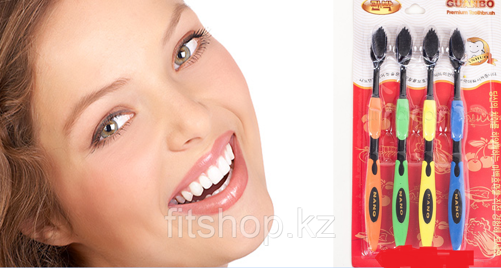 Турмалиновая зубная щетка (4 шт)