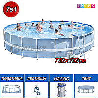 Каркасный бассейн intex 28762, Ultra Frame Pool, 732x132 см, фото 1
