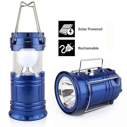 Фонарь-лампа для кемпинга на солнечной батарее  с USB разьемомHS-8278A, фото 2