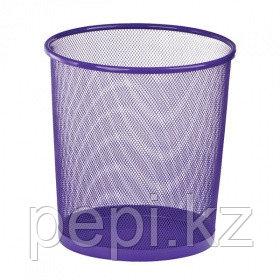 Корзина для бумаг ZiBi, круглая, фиолетовый   h 27см d 24cм