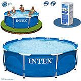 Каркасный сборный бассейн Intex Metal Frame Pool. 305 х 76 см. с фильтром, фото 4