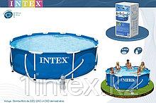 Каркасный сборный бассейн Intex Metal Frame Pool. 366 х 76см. с фильтром