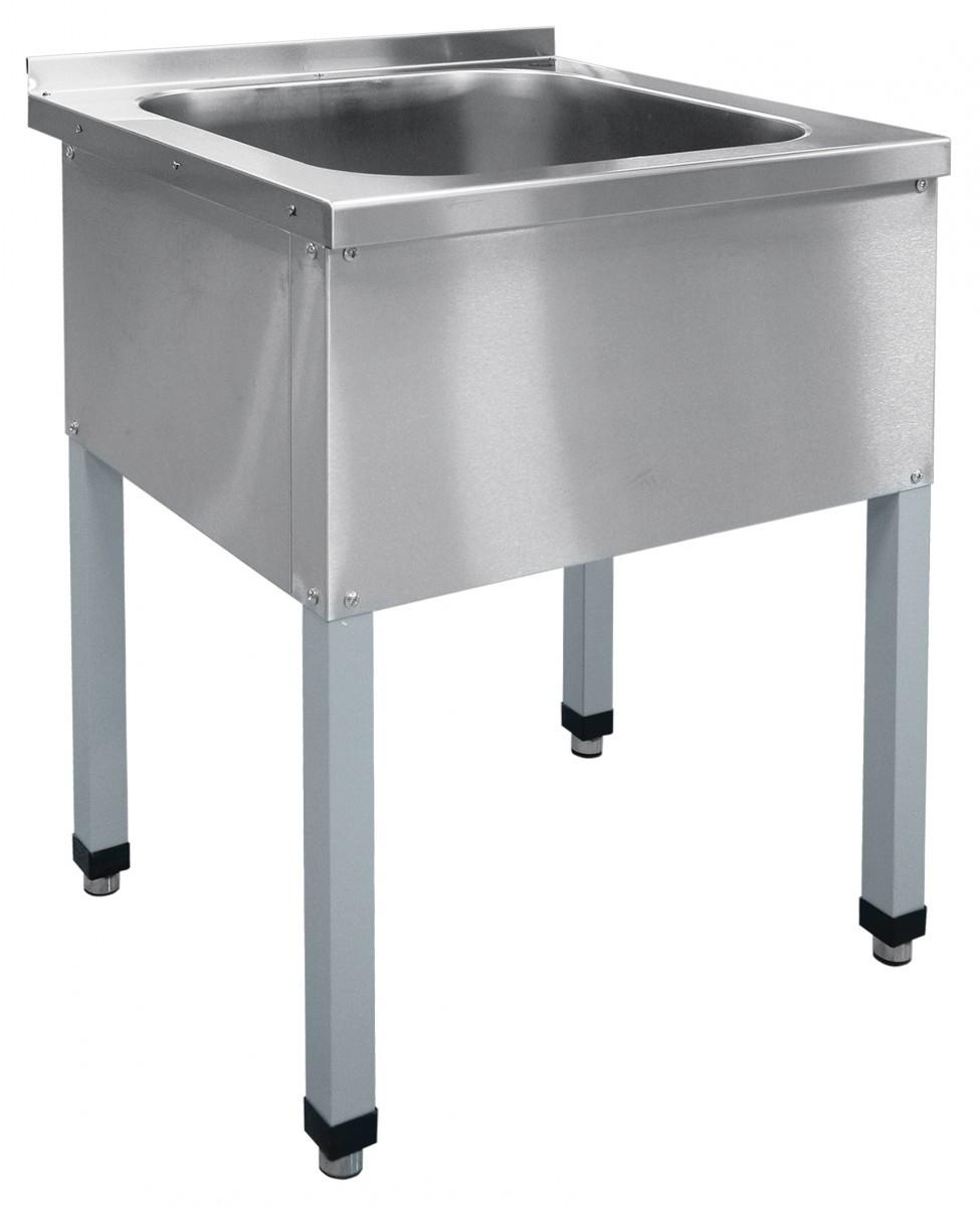 Ванна моечная односекционная ВМП-6-1-5РЧ (каркас крашеный)
