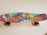 Пенни Борд Graffiti (горящие колеса)