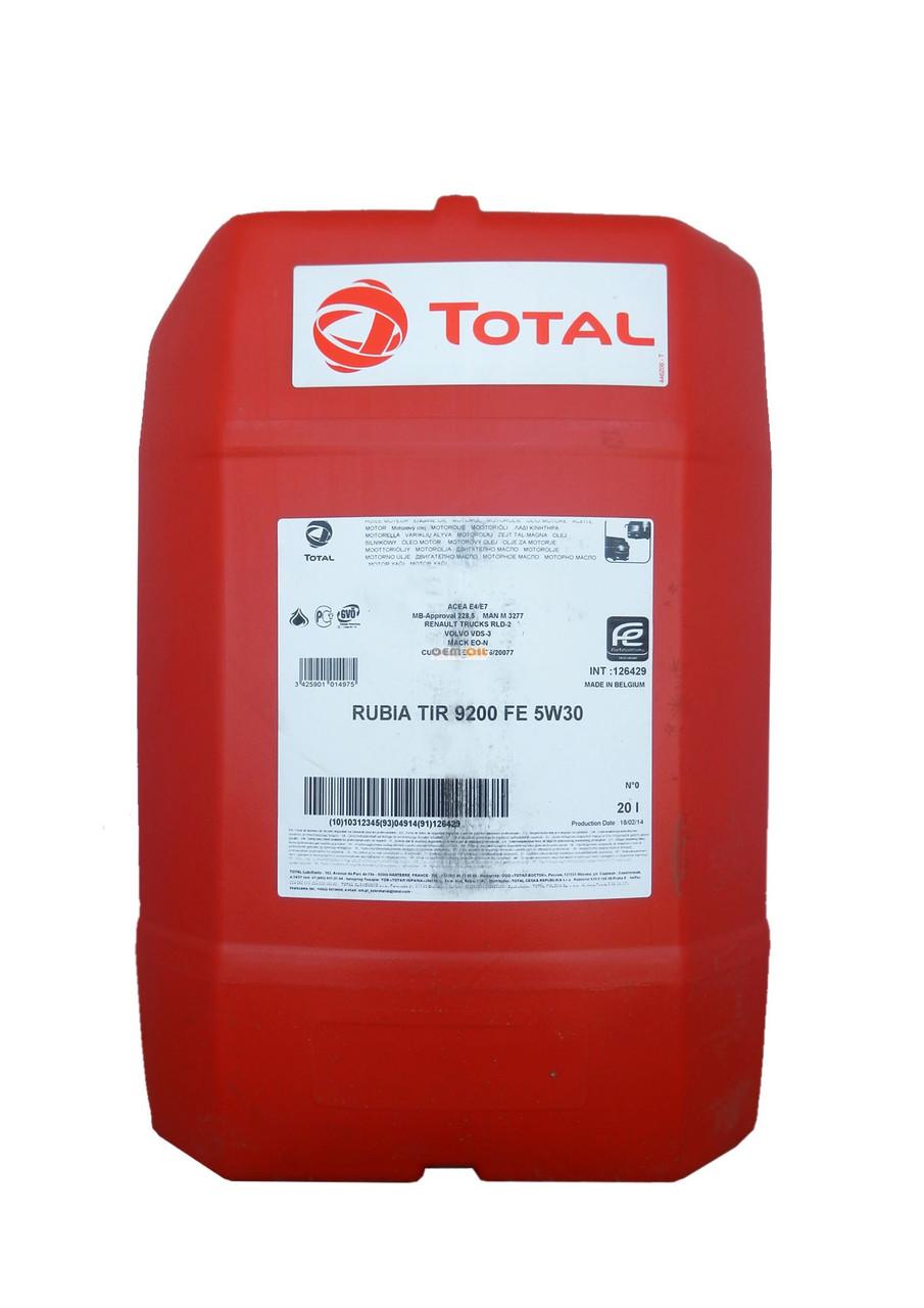 Total RUBIA TIR 9200 FE 5W-30  дизельное синтетическое масло 20л