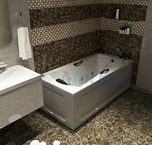 Акриловая  прямоугольная ванна Агора 170*75 см. 1 Марка. Россия. (Ванна + каркас +ножки), фото 3