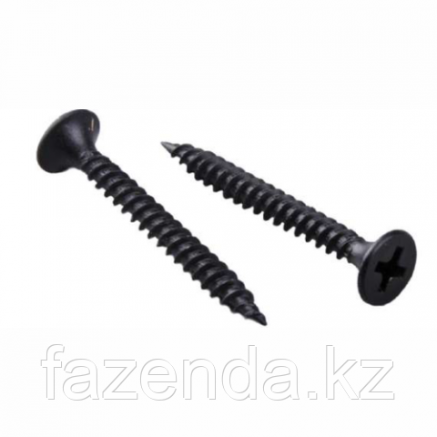 Шуруп для г/к черный 3,5х32 (мелк.шаг) (350)