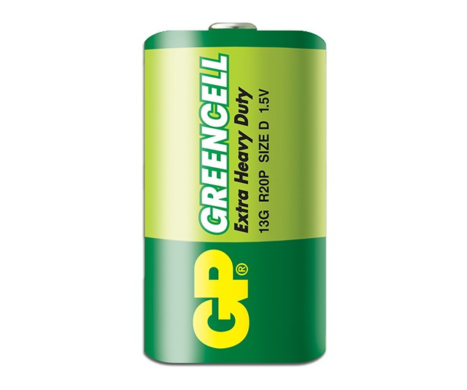 Батарейка GP Greencell 13G-S2, LR20, D, 1.5V