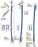 Универсальный внутрикостный канюлированный бедренный стержень правый / левый