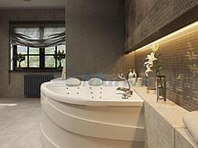 Акриловая ванна Лав 185х135 (Левая) (Полный комплект) Ассиметричная. Угловая, фото 2