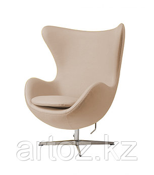 Кресло Egg Chair leather (beige), фото 2