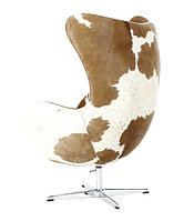 Кресло Egg chair Cow (White/Ginger)