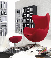 Кресло Egg Chair velvet (red), фото 3