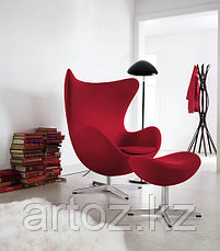 Кресло Egg Chair velvet (red), фото 2