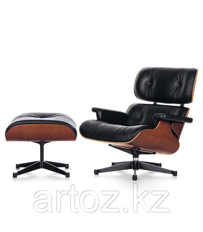Кресло Eames lounge leatherette (black), фото 2
