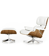 Кресло Eames lounge leather (white)