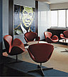 Кресло Swan chair velvet (red), фото 5