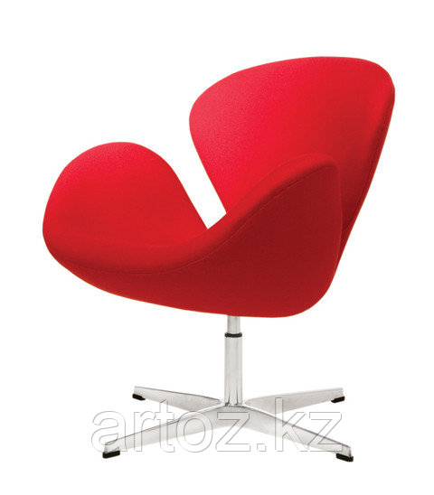 Кресло Swan chair velvet (red)
