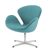 Кресло Swan chair cashemere (turquoise)