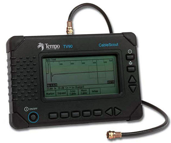 CableScout TV-90 - рефлектометр TempoTextron