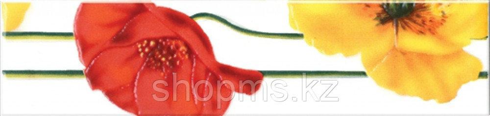 Керамическая плитка М-Квадрат Моноколор бордюр желто-красный 270041 (25*6) *