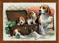 """Набор для вышивания крестом """"Собачье семейство"""", фото 1"""