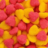 """Жев.мармелад """"Ягоды сердечки в обсыпке розово желтые йогуртовые"""" 1,6кг /FINI Испания/"""