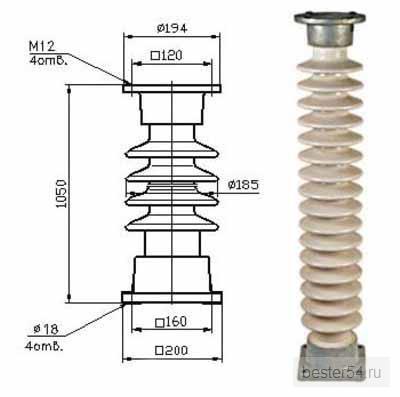 Изолятор опорно-стержневой ИОС 110-400