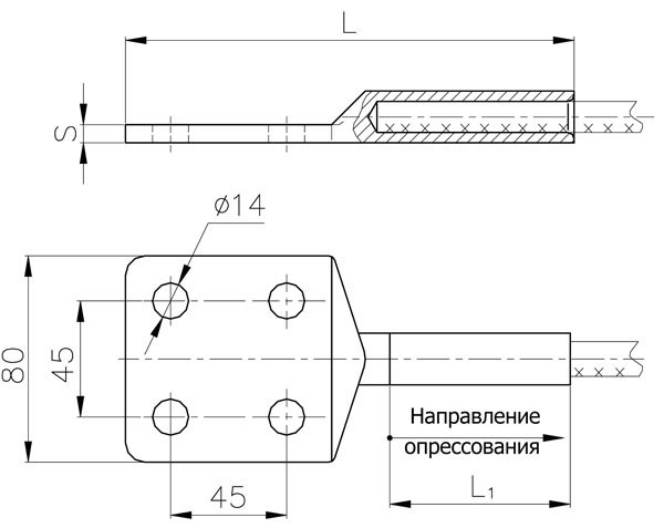 Аппаратные зажимы А4А-70Г-2, А4А-95Г-2, А4А-120Г-2