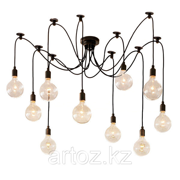 Люстра Edison Chandelier (black)