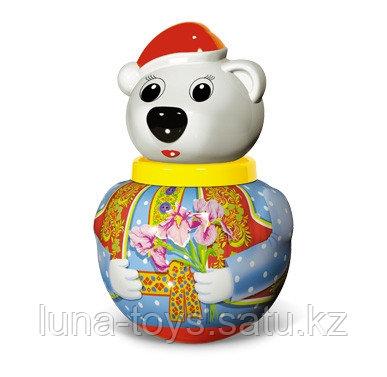 """Неваляшка малая Белый медведь """"Тёма"""" в п/пакете"""