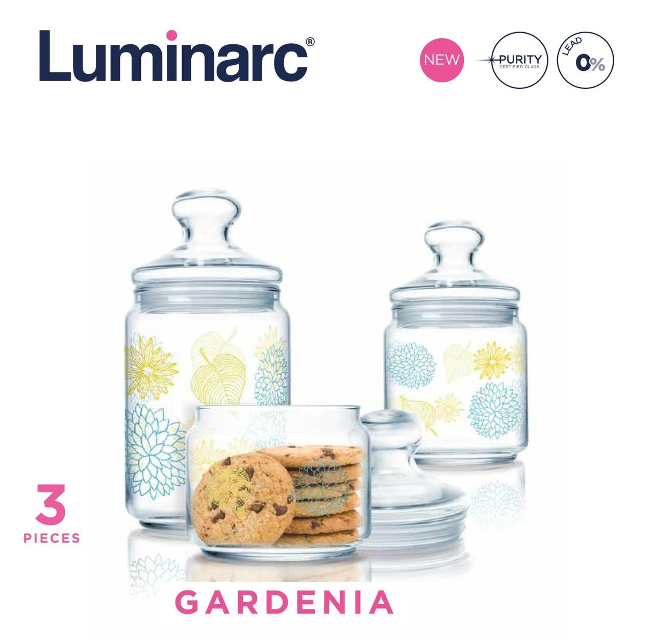 Набор банок Luminarc Gardenia - 3 пр.