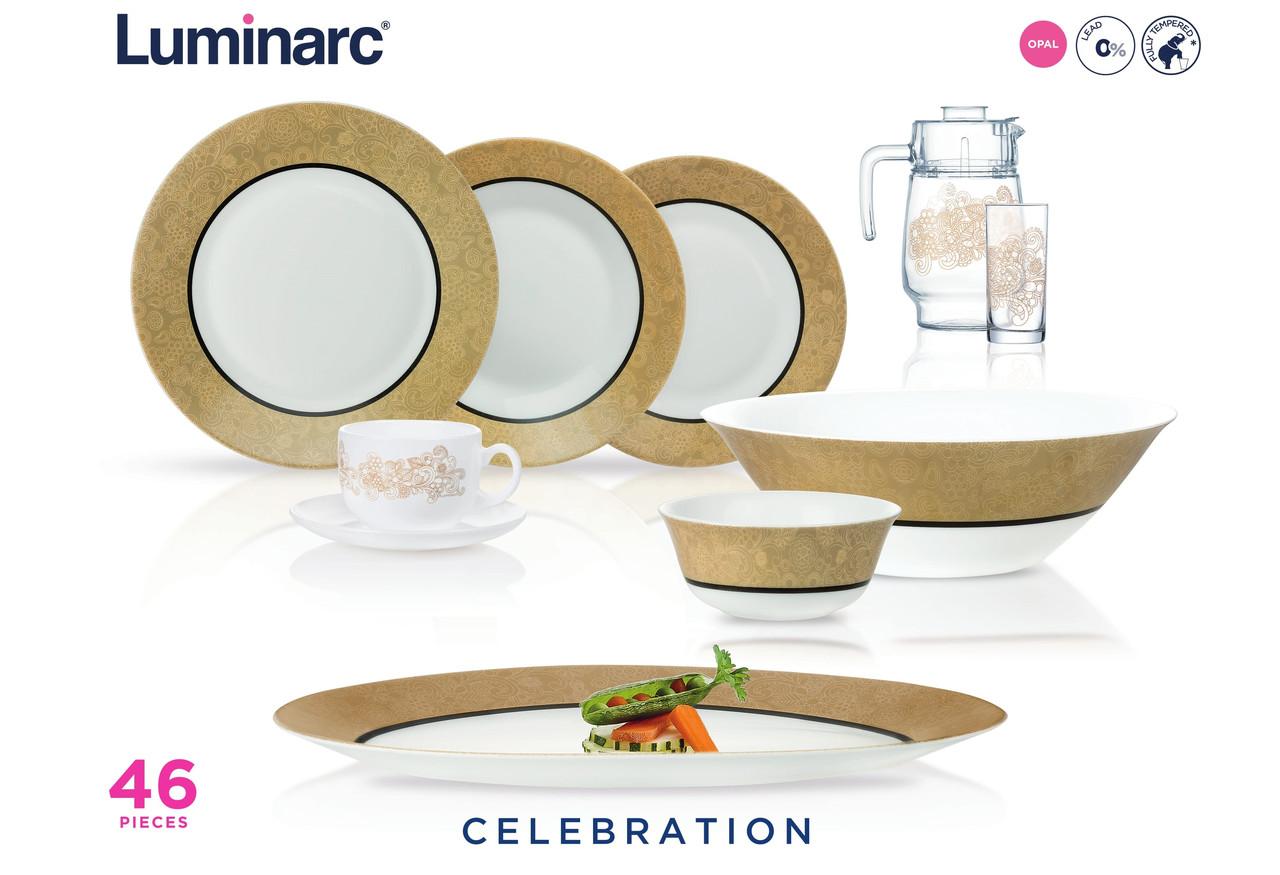Столовый сервиз Luminarc Essence Celebration 46 предметов