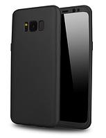 Силиконовый чехол 360 градусов для Samsung Galaxy S8 G950F (черный)
