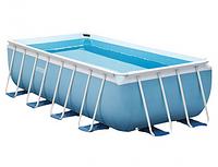 Каркасный бассейн Intex 26792 Prism Frame Rectangular Pool, 488х244х107 см + фильтр-насос + аксессуары