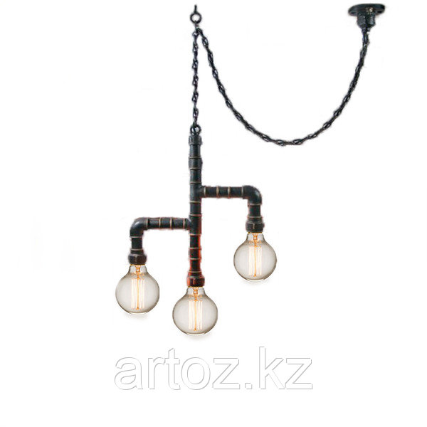 Лампа Industrial Pipe Lamp in chain-3 (№6)
