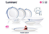 Столовый сервиз Luminarc Essence Fairy Navy 45 предметов, фото 1