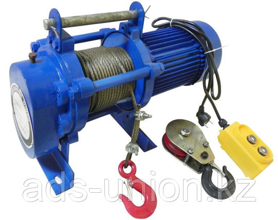 Лебедка электрическая KCD500 гп 500кг/1000кг (H=100м/50м) 380В, фото 2