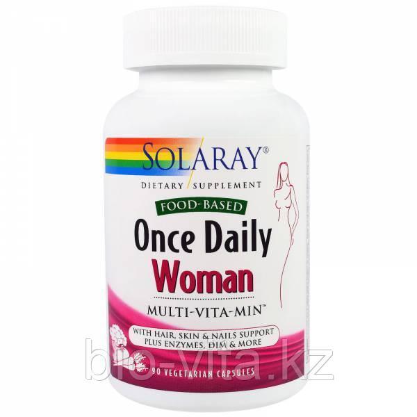 Solaray, Раз в день, витамины для женщин, Multi-Vita-Min, 90  капсул.БЕСПЛАТНАЯ ДОСТАВКА