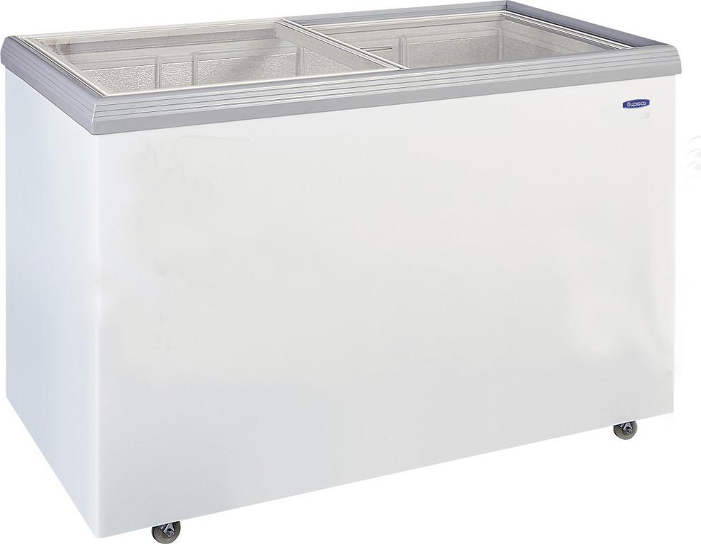 Морозильный ларь Бирюса-355VCZQ со стеклянной крышкой