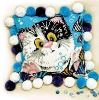 """Набор для вышивания крестом """"Подушка. Котёнок"""""""
