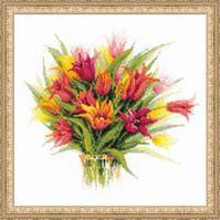 """Набор для вышивания крестом """"Тюльпаны в вазе"""""""